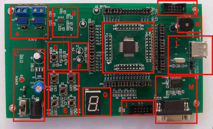 msp430单片机开发板/学习板