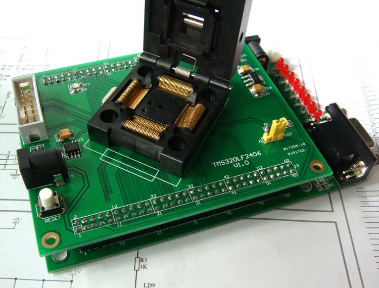 编程底板带芯片功能测试硬件电路,可以对芯片部分功能进行测试,提供
